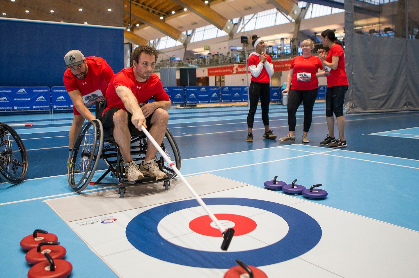 Teams compete in wheelchair curling at ParaTough Cup