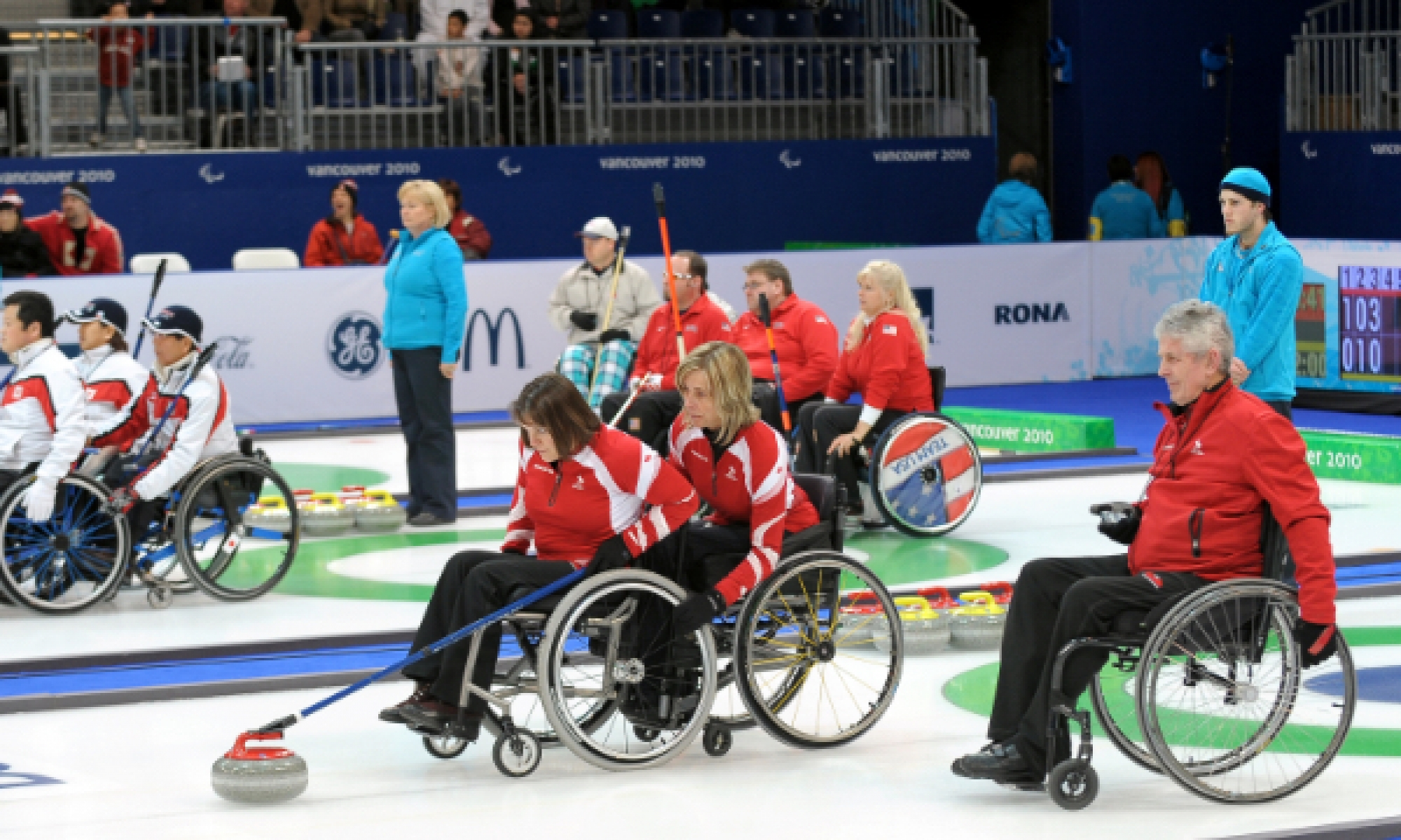 Athlete Wheelchair Curling