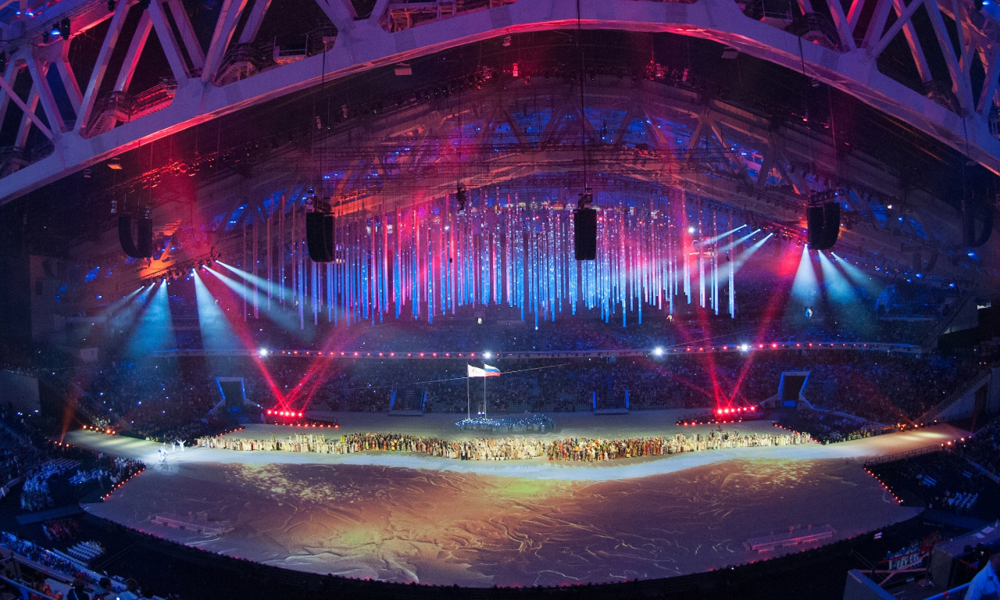 picture of the opening of the olympic games