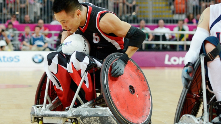 Ian Chan competing at the London 2012 Paralympic Games.